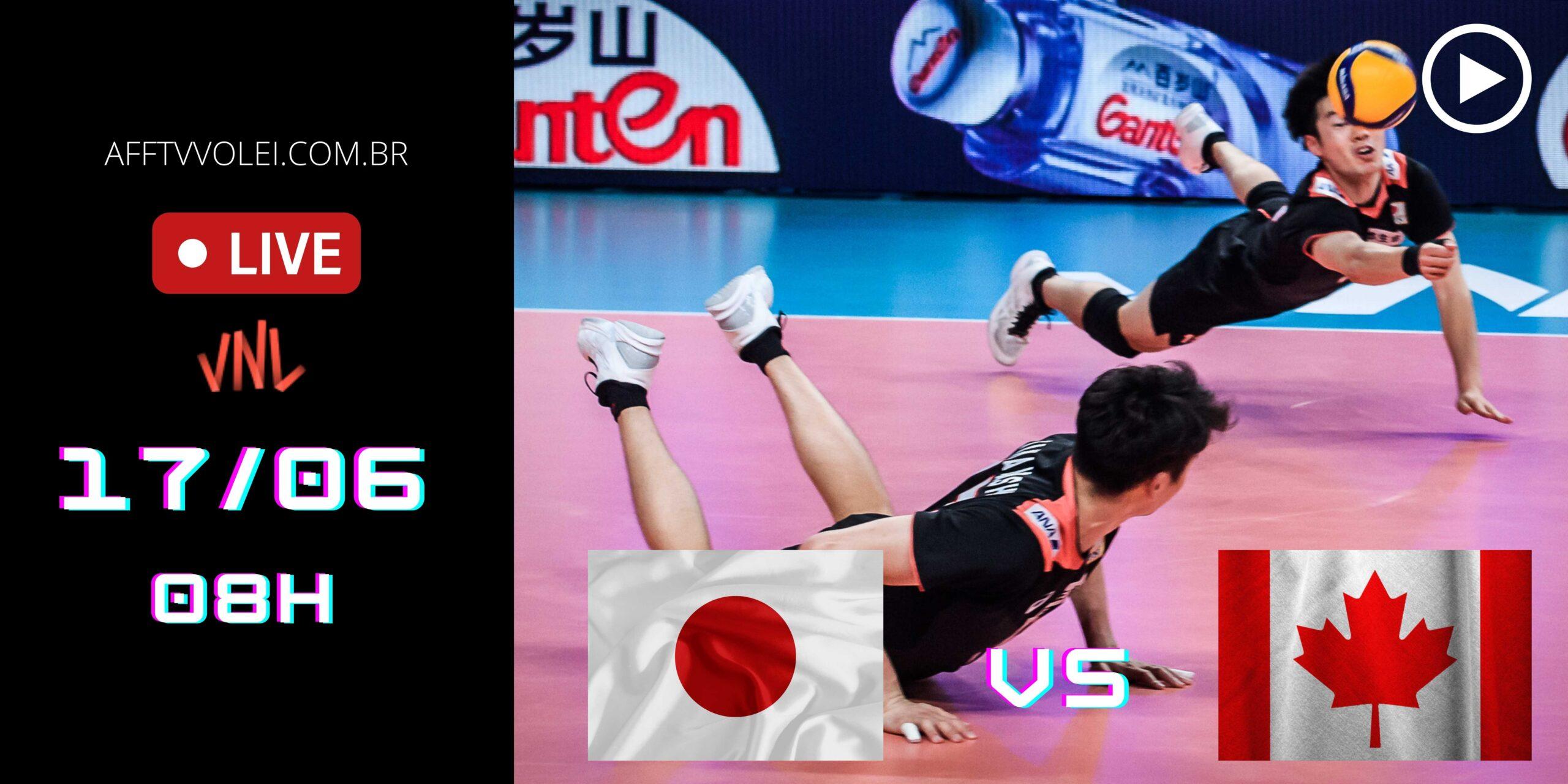 AO VIVO: Japão vs Canadá – Liga das Nações – 17/06 – 08h
