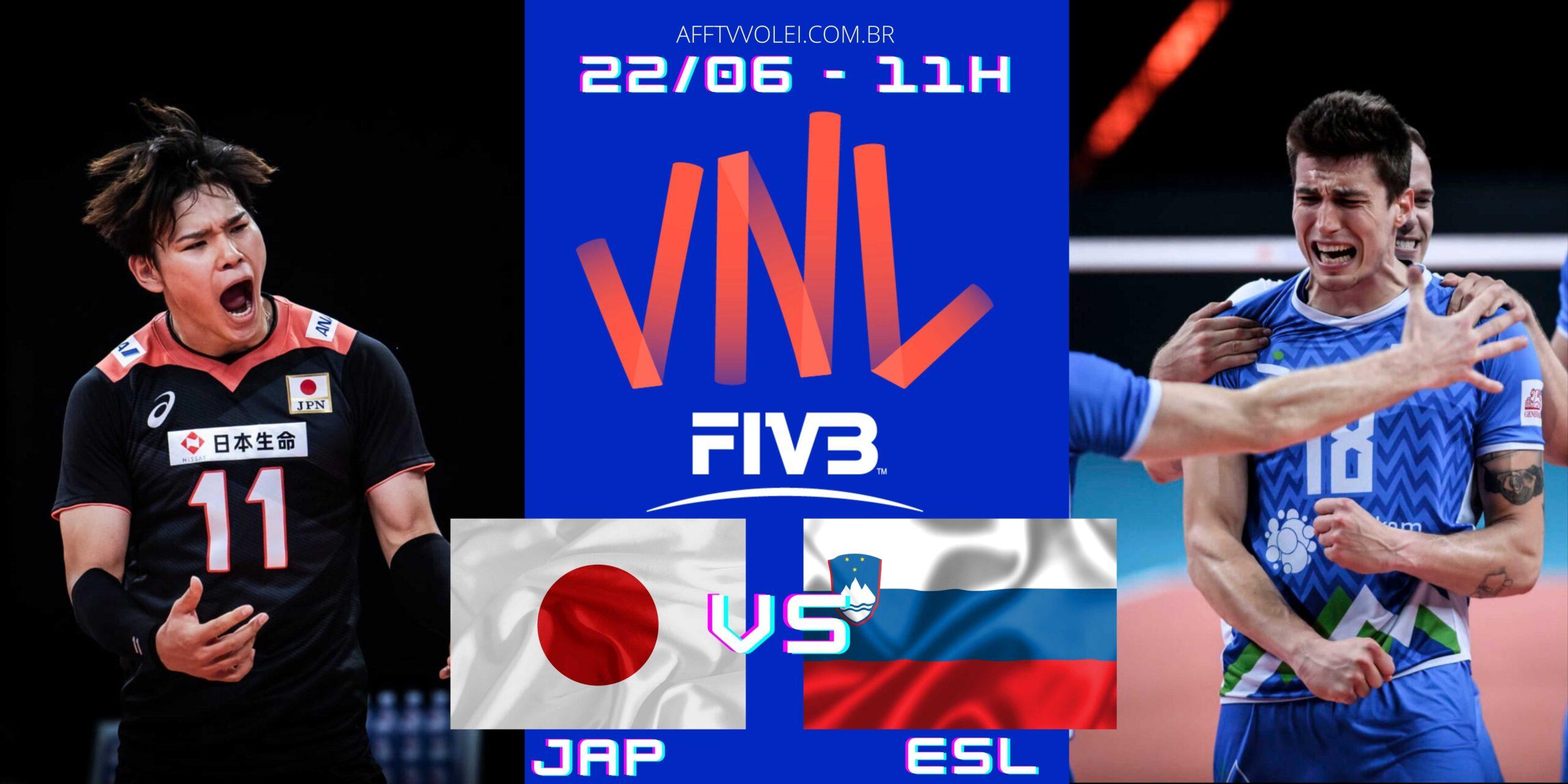 Japão 0 vs 3 Eslovênia – Liga das Nações – 22/06/2021