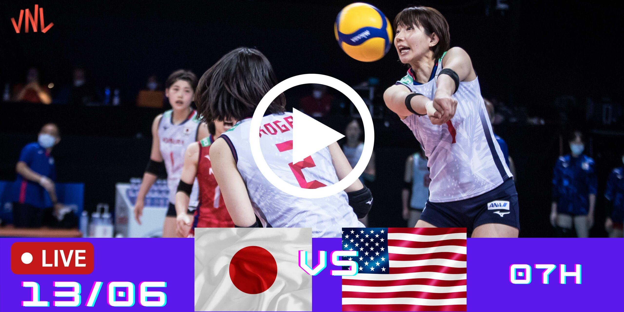 EUA 3 vs 0 Japão – Liga das Nações Feminina – 13/06/2021