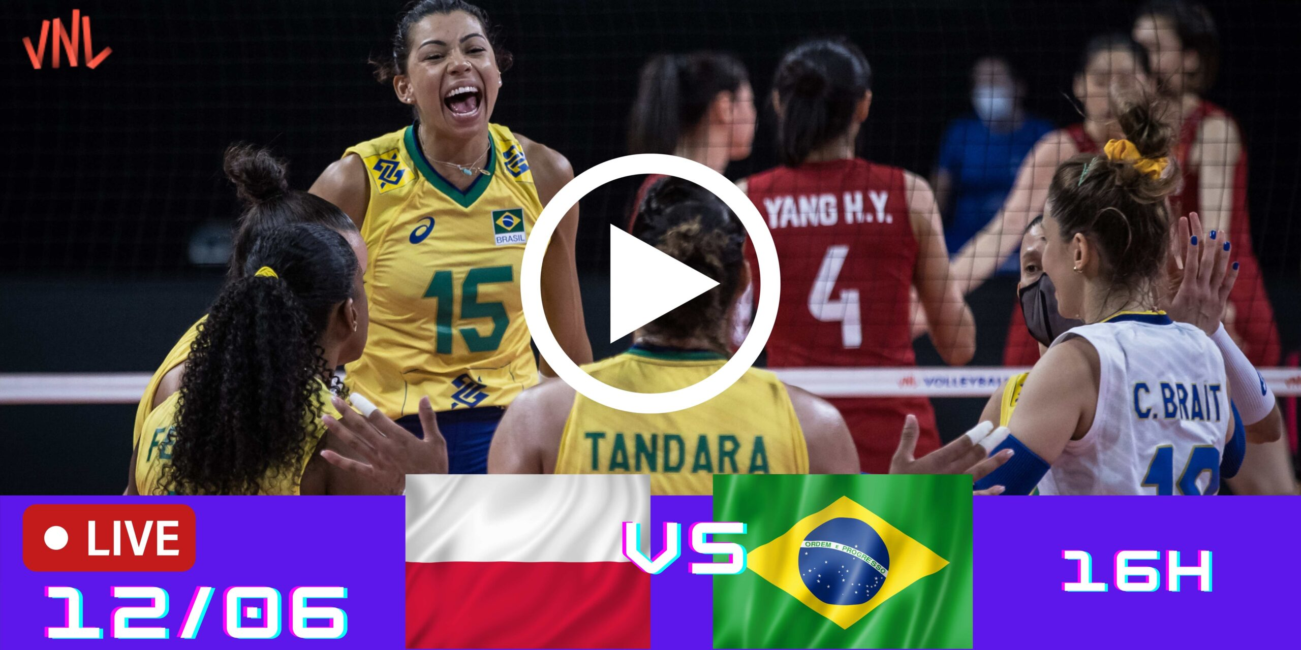 Polônia 0 vs 3 Brasil – Liga das Nações – 12/06/2021