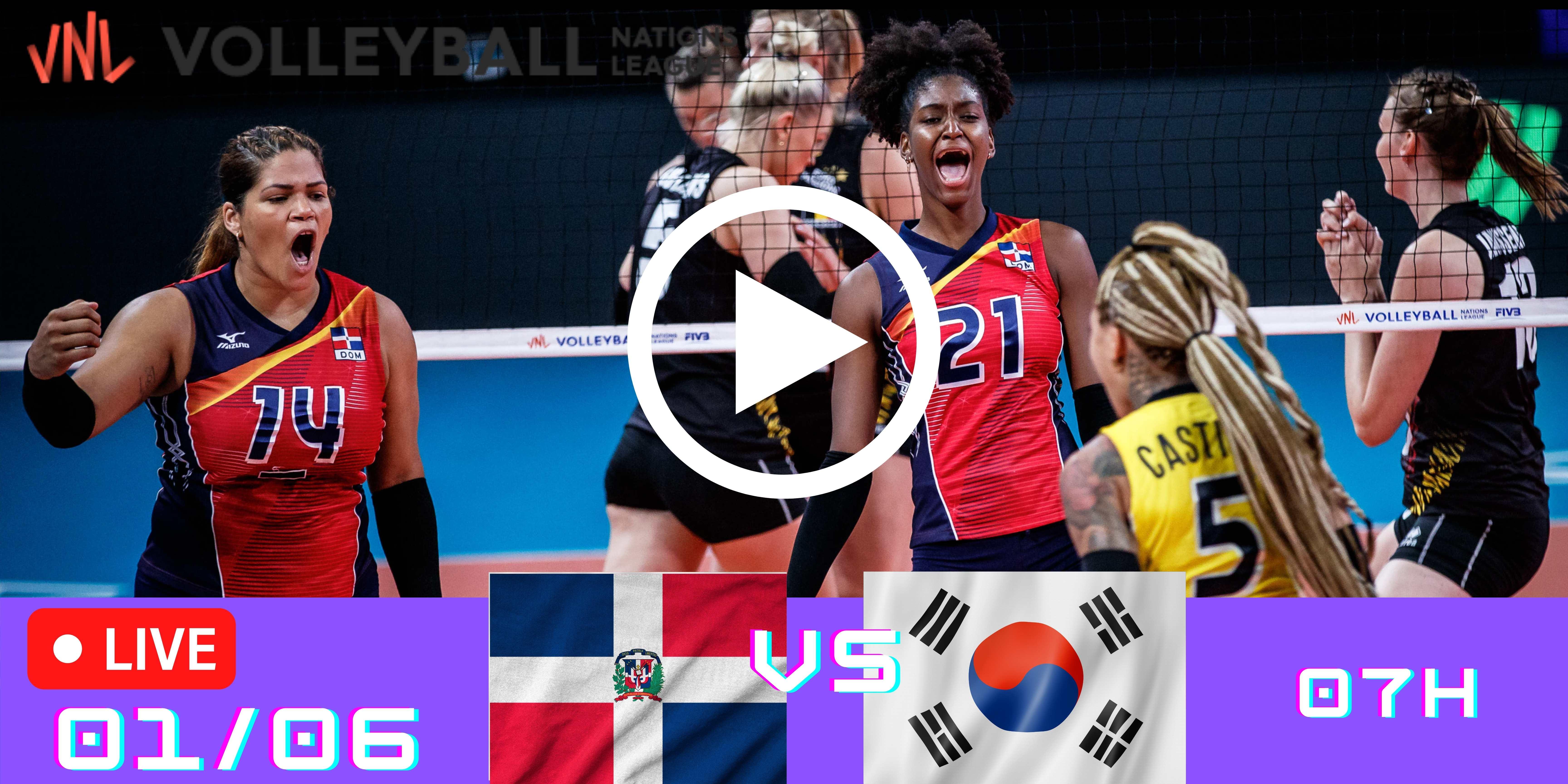 Resultado: R.Dom vs Corea do Sul – Liga das Nações – 01/06/2021