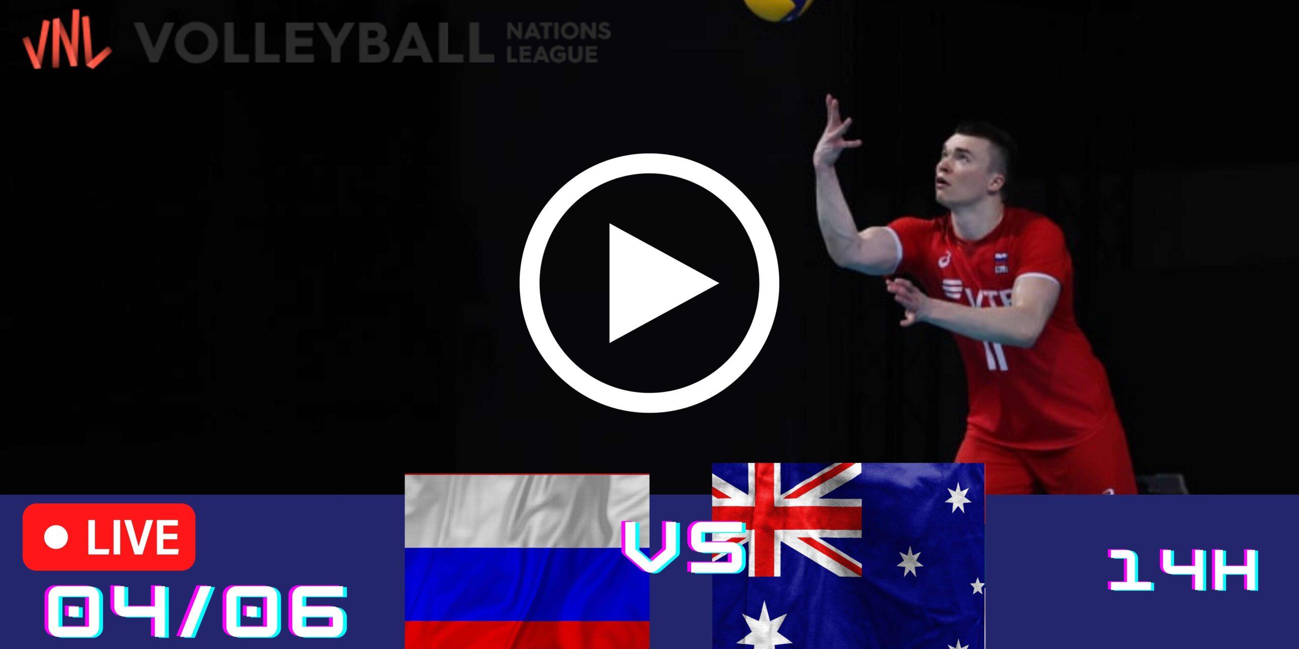 Resultado: Rússia 3 vs 0 Austrália – Liga das Nações – 04/06 – 14h30