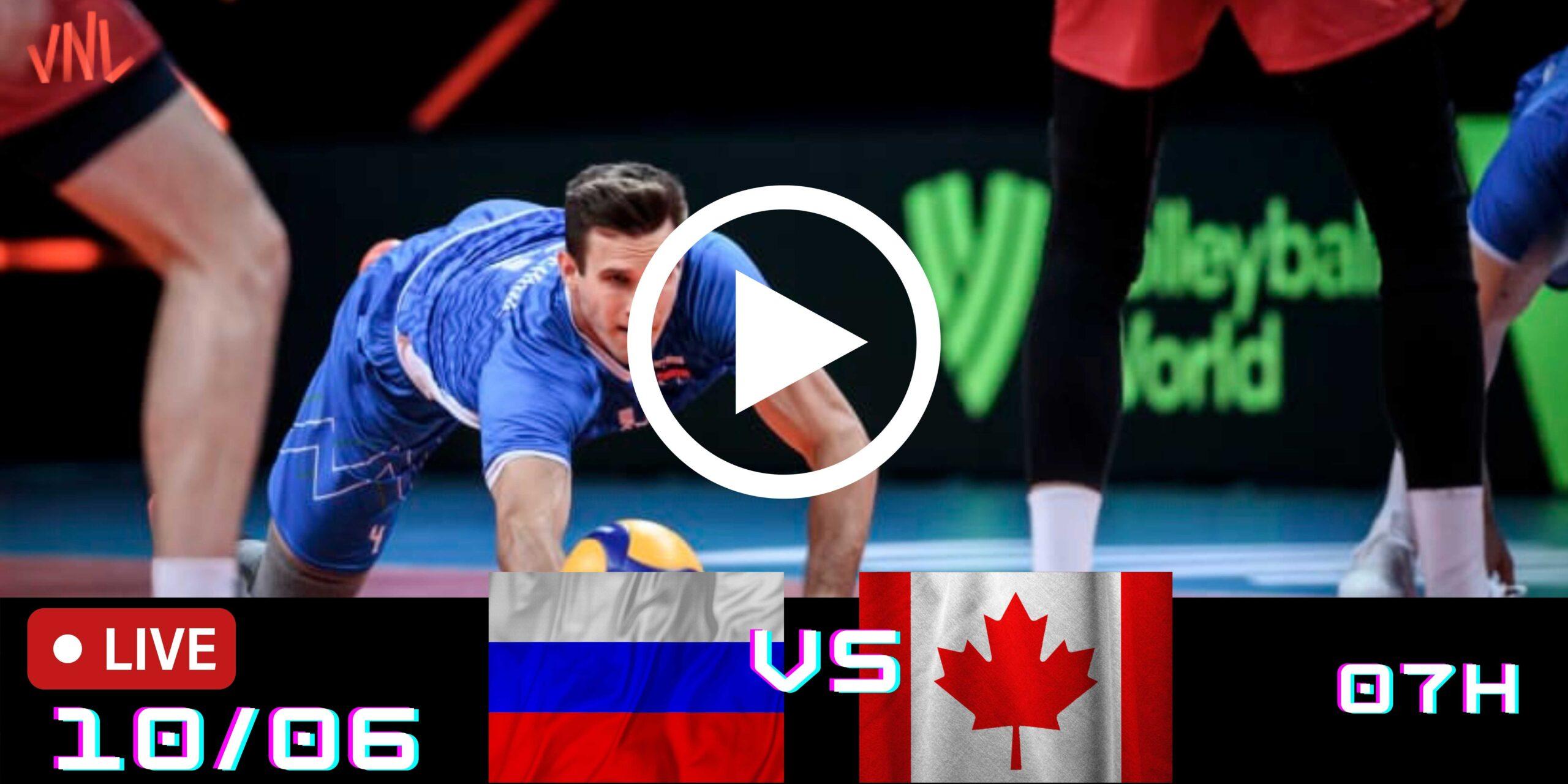 Resultado: Rússia 3 vs 1 Canadá – Liga das Nações – 10/06/2021