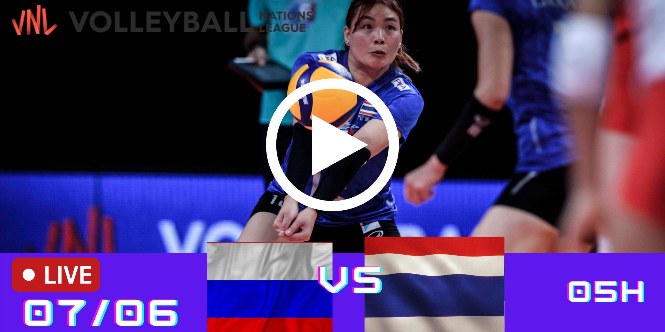 Resultado: Rússia 3 vs 1 Tailândia – Liga das Nações – 07/06 – 05h