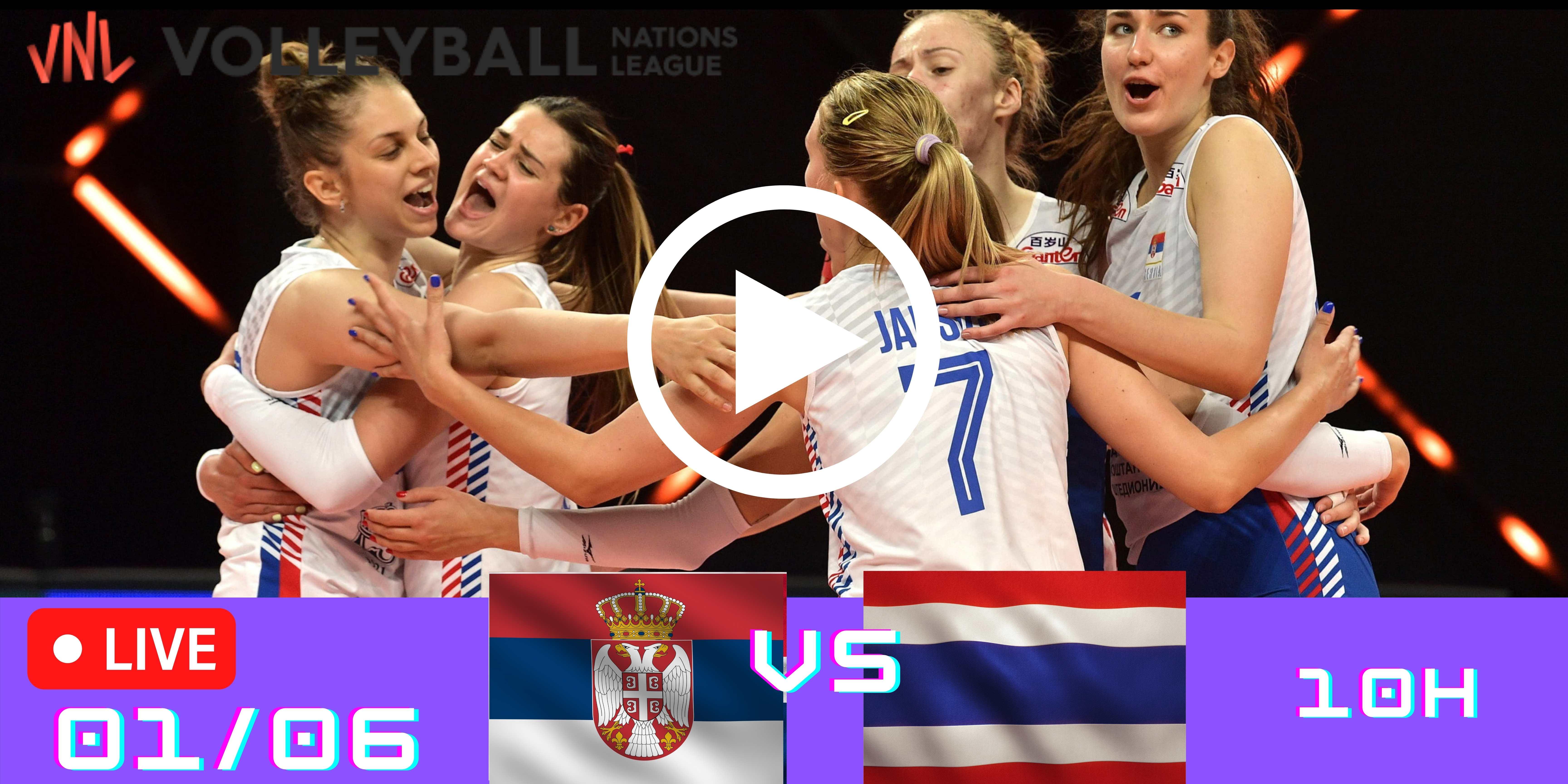 Resultado: Sérvia vs Tailândia – Liga das Nações – 01/06/2021