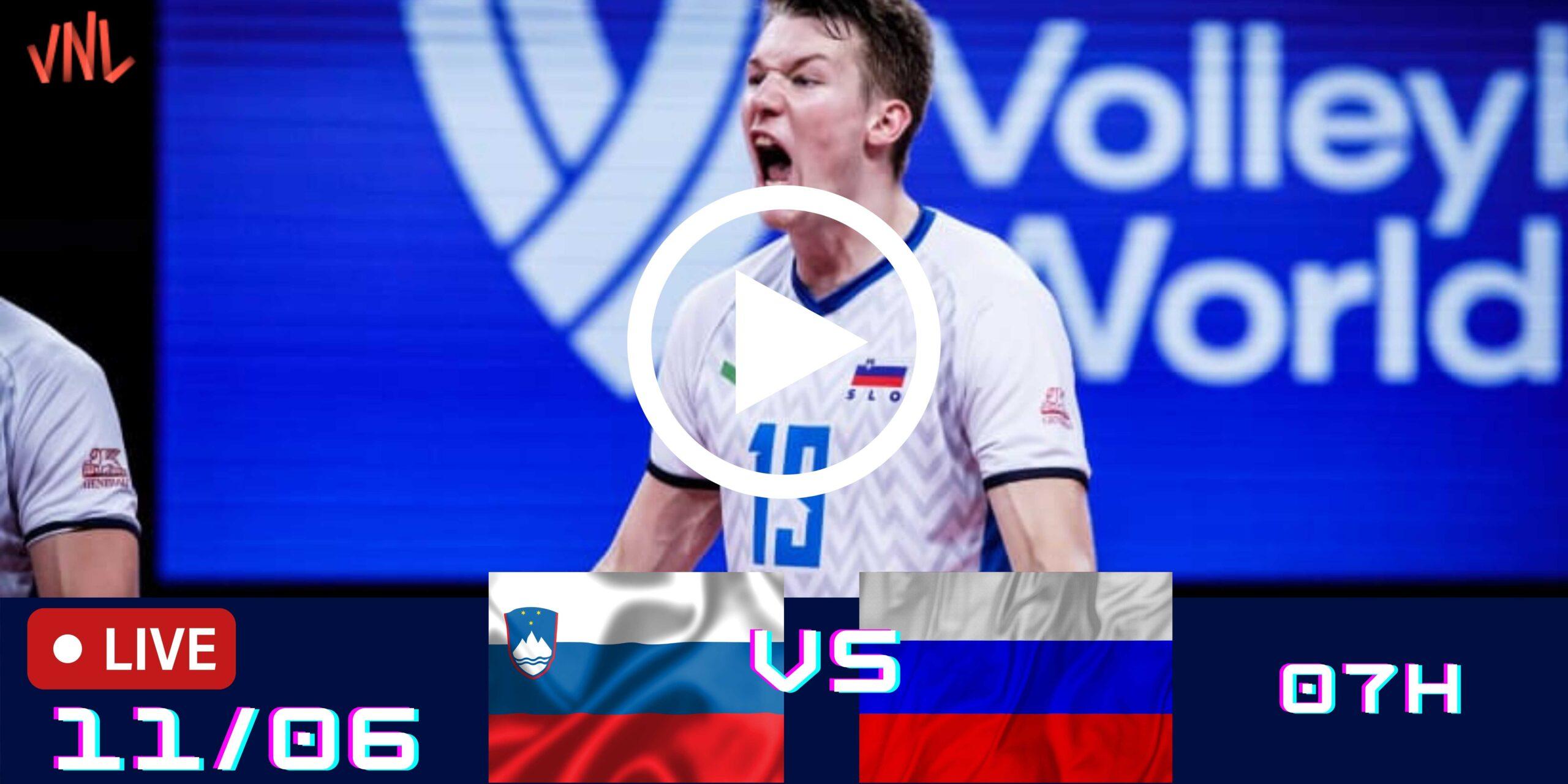 Eslovenia 3 vs 2 Rússia – Liga das Nações Masculina – 11/06/2021