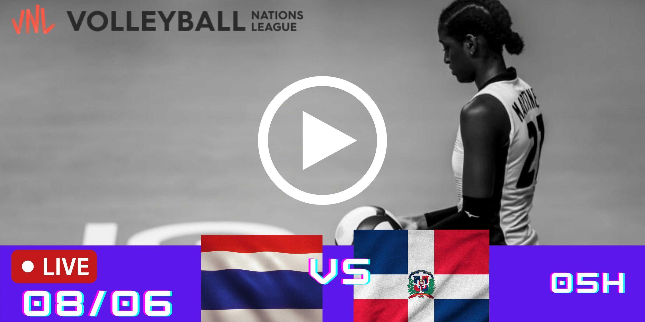 Resultado: Tailândia 0 vs 3 República Dominicana – Liga das Nações – 08/06/2021