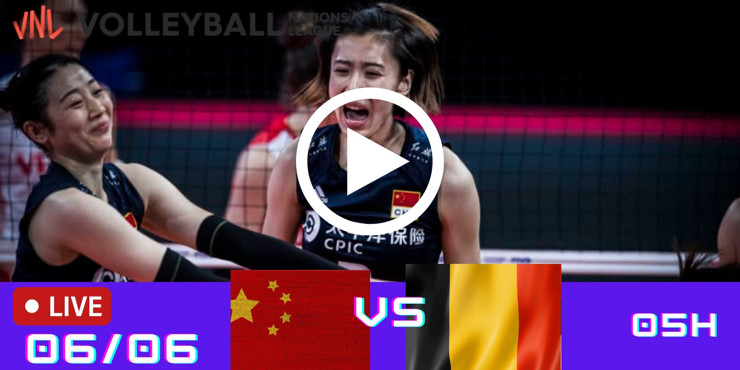 Resultado: China 2 vs 3 Bélgica – Liga das Nações – 06/06 – 05h