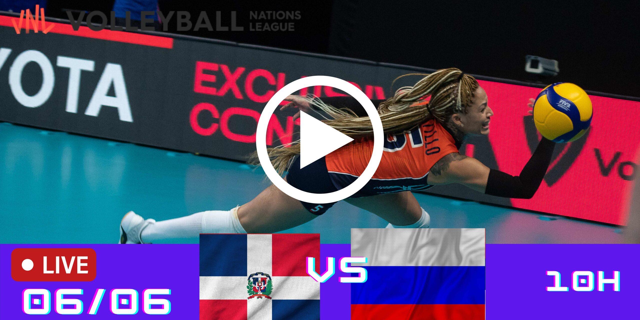 Resultado: R.Dominicana 2 vs 3 Rússia – Liga das Nações – 06/06 – 10h
