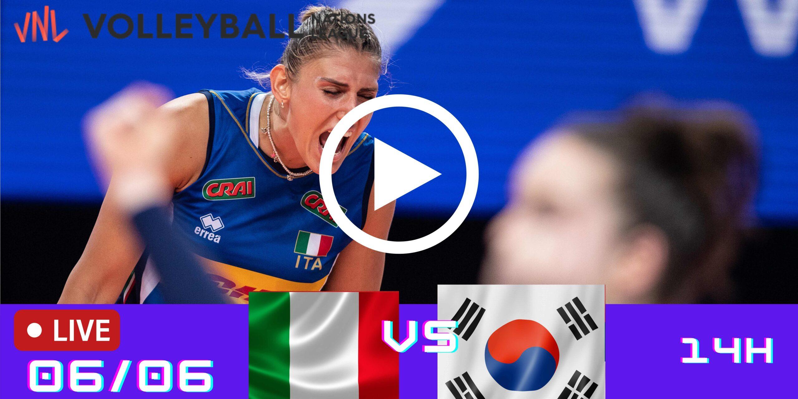 Resultado: Itália 3 vs 1 Coreia do Sul – Liga das Nações – 06/06 – 14h