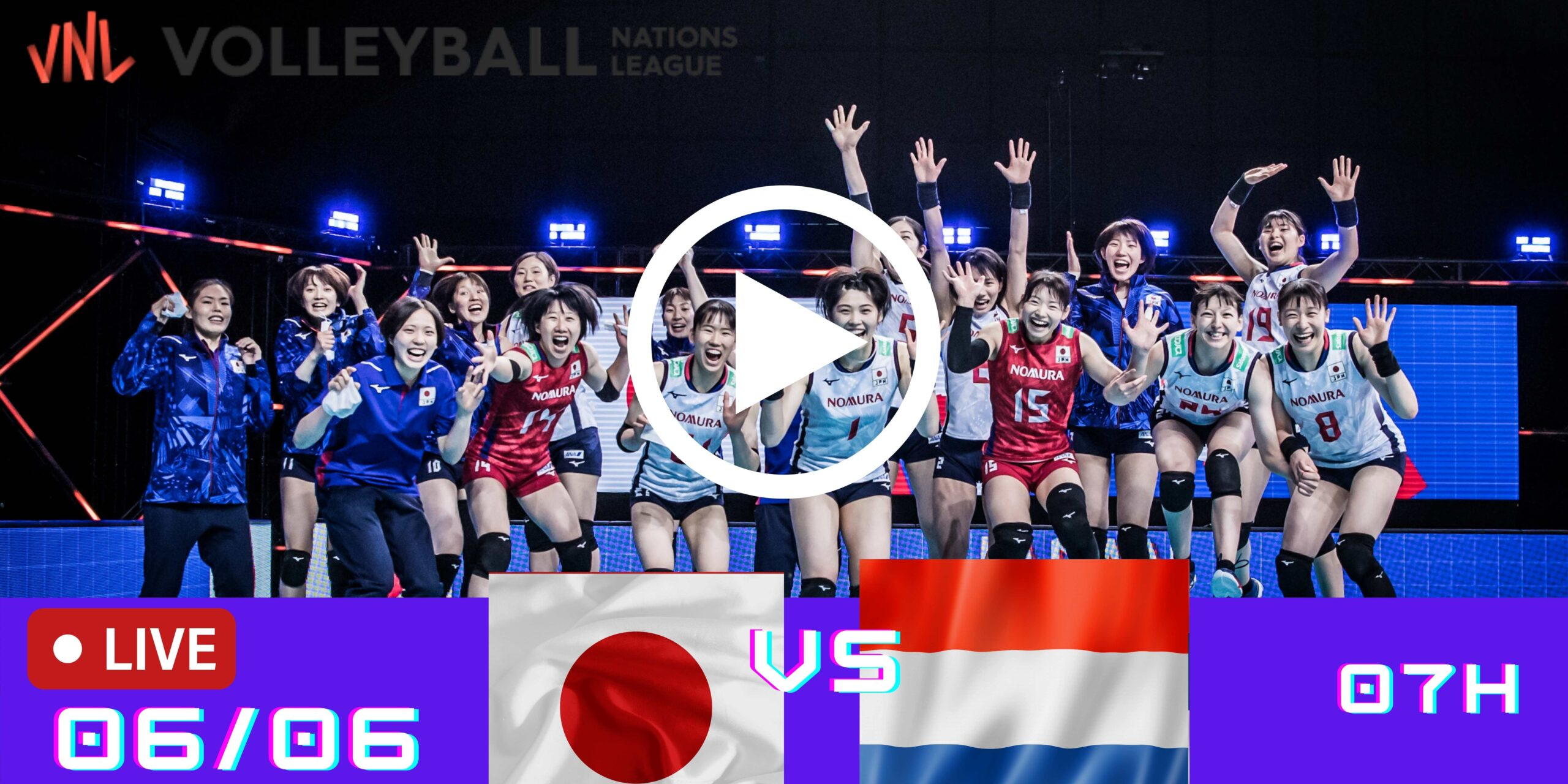Resultado: Japão 0 vs 3 Holanda – Liga das Nações – 06/06 – 07h